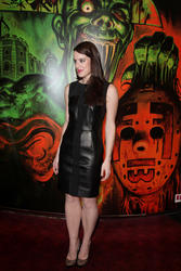 Michelle Ryan At Cockneys Vs Zombies Screening Leather
