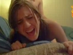 Brunette gets a rough punding